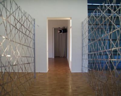 Ausstellungsansicht, Ólafur Elíasson, 1998, GfZK Leipzig, Foto: Hans-Christian Schink