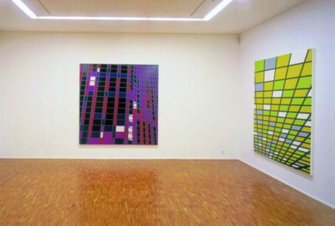 Ausstellungsansicht, Sarah Morris: Girlfriend, 2000, GfZK Leipzig, Foto: Hans-Christian Schink