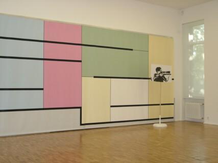 Ausstellungsansicht, Richard Hoeck: THE ADDITIONAL BEDROOM, 2000, GfZK Leipzig, Foto: Hans-Christian Schink