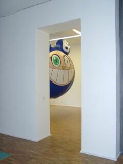 Ausstellungsansicht, >I love you too, but...< Positionen zwischen Comic-Ästhetik und Narration, 2000, GfZK Leipzig, Foto: Hans-Christian Schink