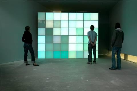 Ausstellungsansicht, Angela Bulloch, 2004, GfZK Leipzig, Foto: Wolfgang Günzel