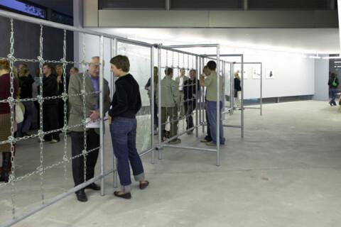 Ausstellungsansicht, Monica Bonvicini, 2004, GfZK Leipzig, Foto: Andreas Enrico Grunert