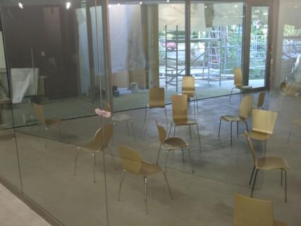 Ausstellungsansicht, Heimo Zobernig, 2004, GfZK Leipzig, Foto: Andreas Enrico Grunert