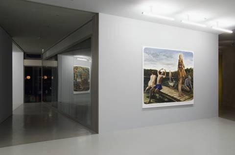 Ausstellungsansicht, Muntean / Rosenblum MAKE DEATH LISTEN, 2007, GfZK Leipzig, Foto: Andreas Enrico Grunert