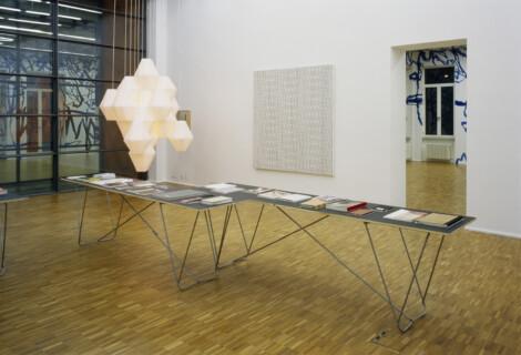 Ausstellungsansicht, Drucksachen, 2008, GfZK Leipzig, Foto: Andreas Enrico Grunert