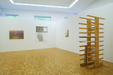 Ausstellungsansicht, Stok Room, 2009, GfZK Leipzig, Foto: Mark Hamilton