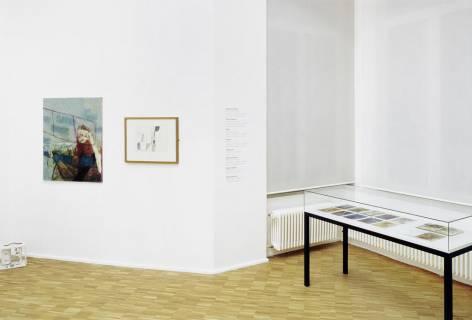 Ausstellungsansicht, Carte Blanche X: Der Freundeskreis >Hans Brosch<, 2010, GfZK Leipzig, Foto: Andreas Enrico Grunert