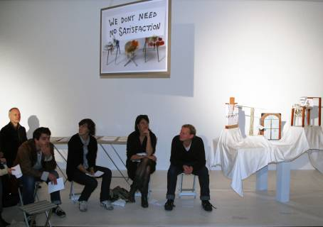 Vortrag-Performance, 2010. Foto: Radmila Joksimovic