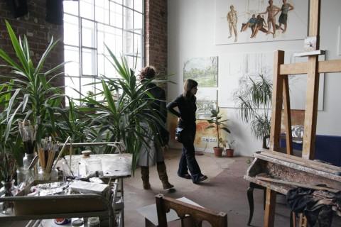Atelierbesuch Steven Black, 2008