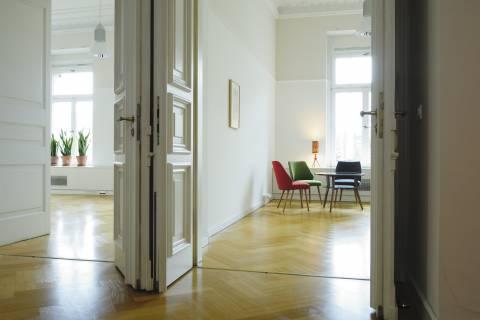 Installationsansicht, MusterrÆume, 2008, CPS Real Estate Leipzig, Foto: Martin Klindworth