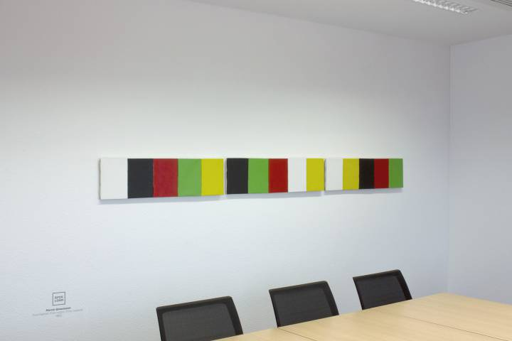 Hervé Graumann: Fünf Farben, 1992. Foto: Andreas Schulze