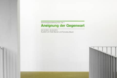 Aneignung der Gegenwart, GFZK 2012. Ausstellungsansicht. Foto: Sebastian Schröder