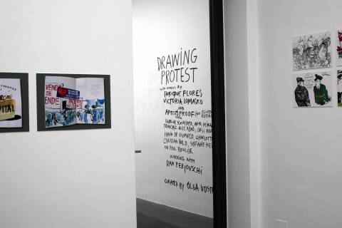 DRAWING PROTEST GfZK, 2013. Ausstellungsansicht