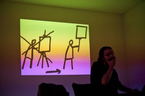 Dan Perjovschi: Vortrag, 2013