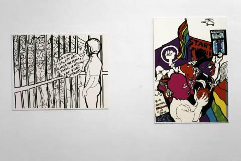 Ausstellungsansicht Victoria Lomasko.