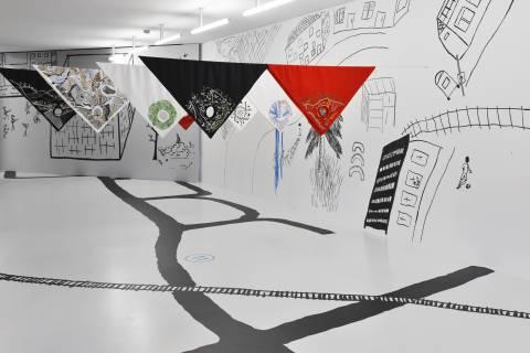 Kateřina Šedá: No Light, 2013. Ausstellungsansicht Foto: Sebastian Schröder