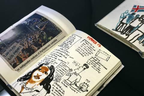 Ausstellungsansicht Enrique Flores: Tagebücher