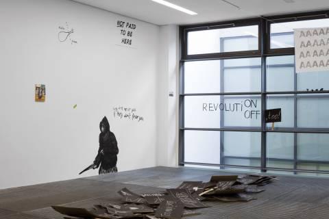 Ausstellungsansicht, Drawing Protest, 2013, Foto: Sebastian Schröder