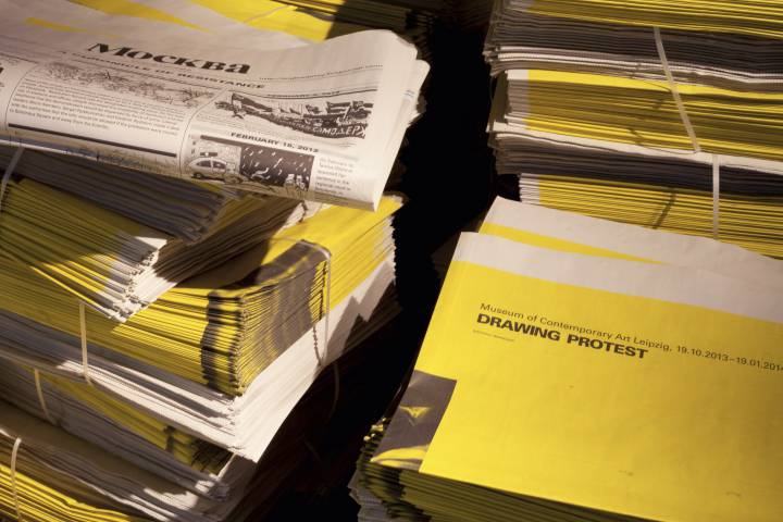 DRAWING PROTEST GfZK, 2013. Publikation zur Ausstellung