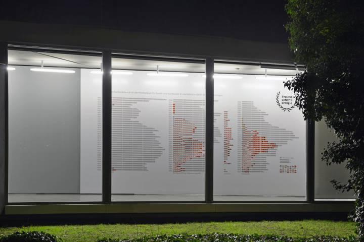 Freundschaftsantiqua, GfZK 2014. Neubau Außenansicht. Foto Sebastian Schröder