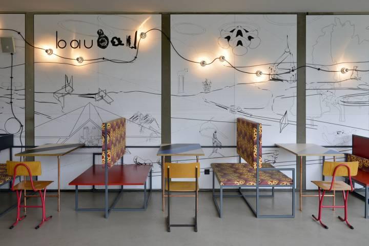 Café bau bau, 2014. Mural: Ralf Pflugfelder Foto: Sebastian Schröder