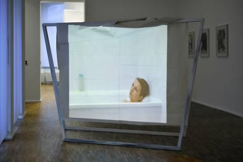 Franziska Jyrch: White Cube, 2011. Foto: Sebastian Schröder