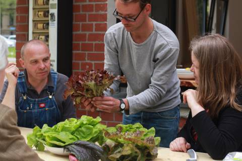 International Village Show 2/8. Gemüsegespräch mit Annalinde, 2015. Foto: Julia Rößner