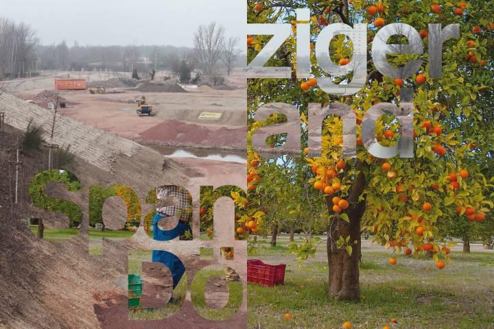 Postkarte: Leipziger Umland und Spanische Dörfer, 2015. Gestaltung: Kay Bachmann