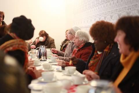 Eröffnung: International Village Show - Ekumfi Ekrawfo trifft Höfen, 2015. Foto: Julia Rößner