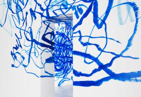 Ausstellungsansicht, Otto Zitko, 2007, GfZK Leipzig, Foto: Andreas Enrico Grunert
