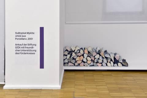 Svätopluk Mykita: Holz aus Porzellan, 2001. Foto: Sebastian Schröder