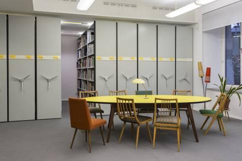 Bibliotheksansicht. Foto: Matthias Ritzmann