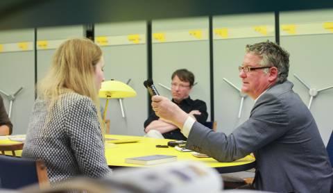 Interview mit Julius Deutschbauer. Foto: Julia Rößner