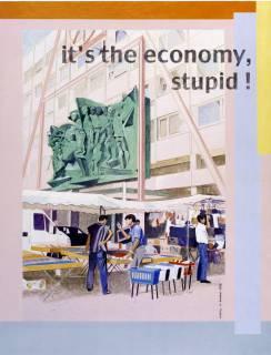Johanna Kandl: Ohne Titel (it's the economy, stupid!), 2002. Ankauf des Förderkreises