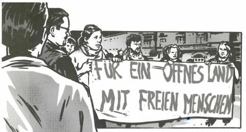 Detail aus Herbst der Entscheidung, Hrsg. PM Hoffmann/Bernd Lindner, 2014.
