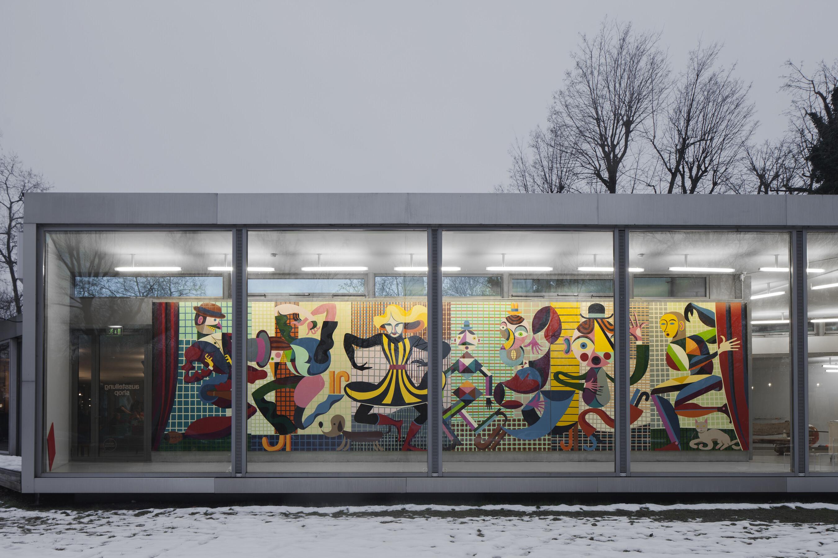 Christoph Ruckhäberle, Malerei für Moritz, 2018, Gaudiopolis - Versuch einer guten Gesellschaft, Ausstellungsansicht, © Galerie für Zeitgenössische Kunst