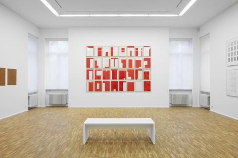 Imi Knoebel, Rot-Weiß I, 1990–1991 Collagen
