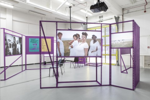 Alex Martinis Roe, 'To Become Two', installation view, The Showroom, London, 2017. Exhibition design Fotini Lazaridou-Hatzigoga. Photo Daniel Brooke