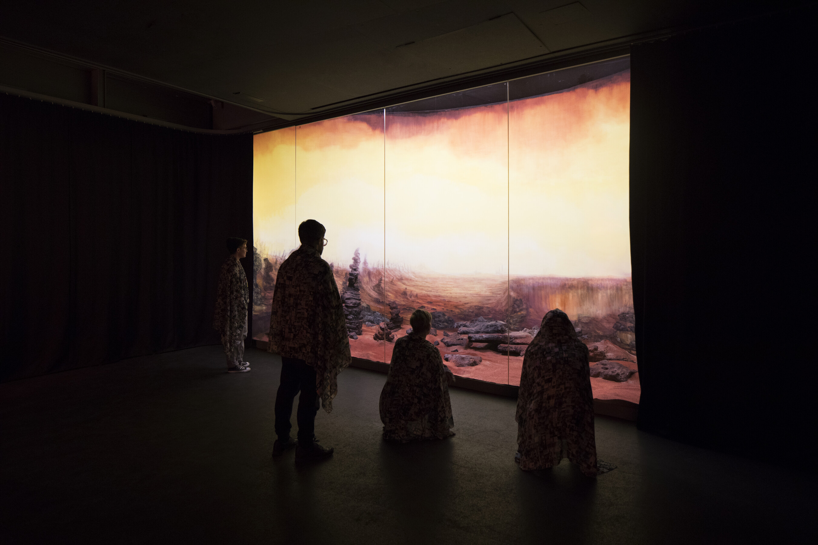 Dominique Gonzalez-Foerster, Martian Dreams Ensemble, Ausstellungsansicht, ©GfZK