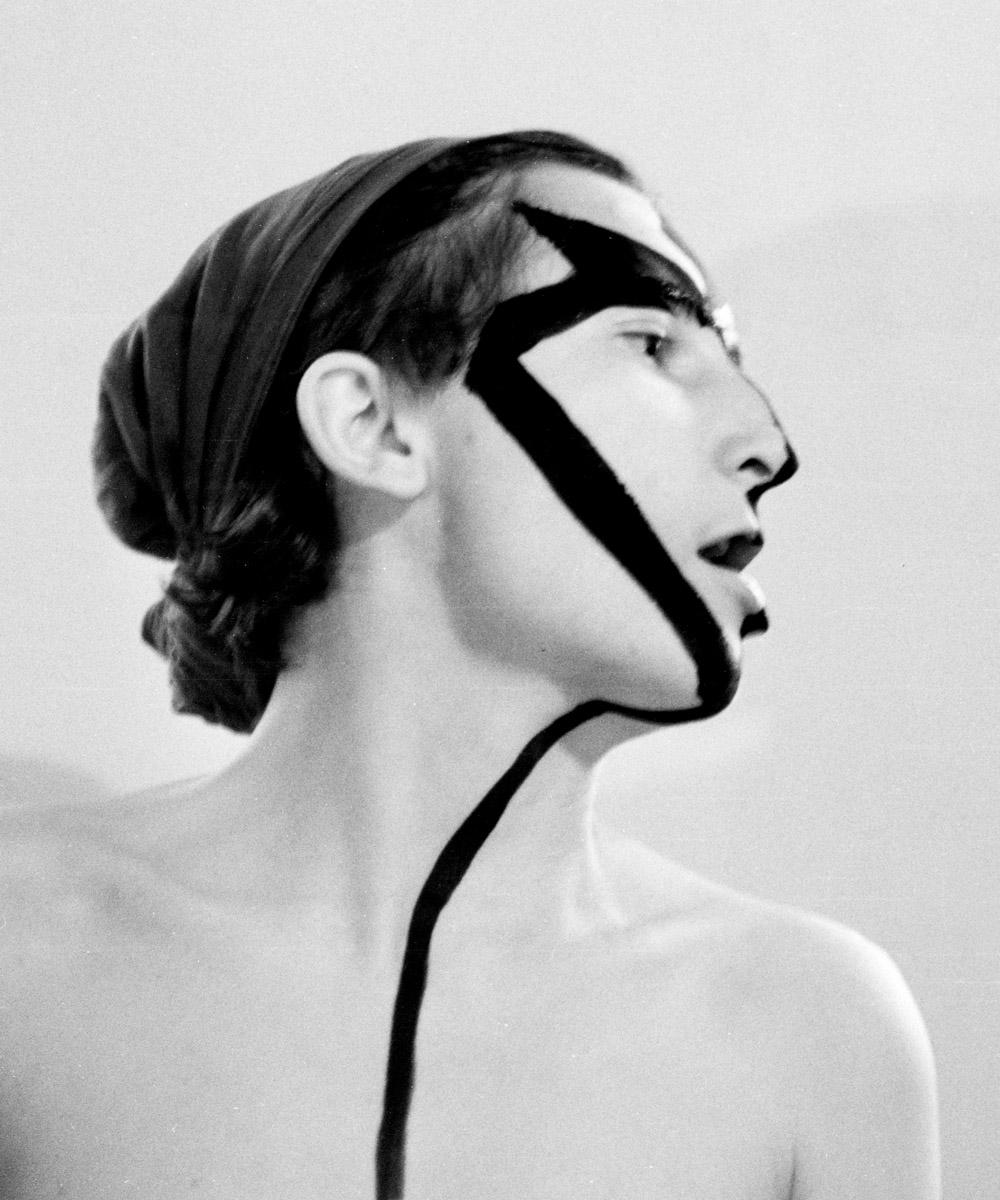 Gabriele Stötzer: Gesicht, 1983