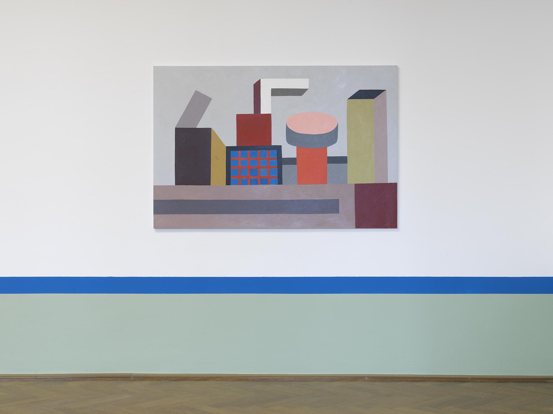 Nathalie Du Pasquier, FAIR GAME, Oil on Canvas 100x150, 2015