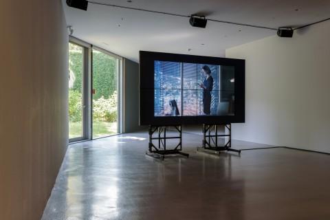 Ausstellungsansicht: Clemens von Wedemeyer, Mehrheiten, 2019, GfZK, Foto Alexandra Ivanciu