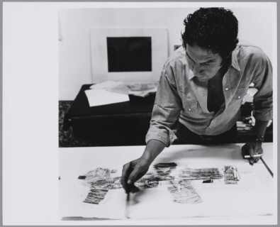Robert Rauschenberg dans son atelier, Lafayette Street, New York, Shunk-Kender Fund, Roy Lichtenstein Foundation donation, in memory of Harry Shunk and János Kender (2014). © J. Paul Getty Trust. All rights reserved