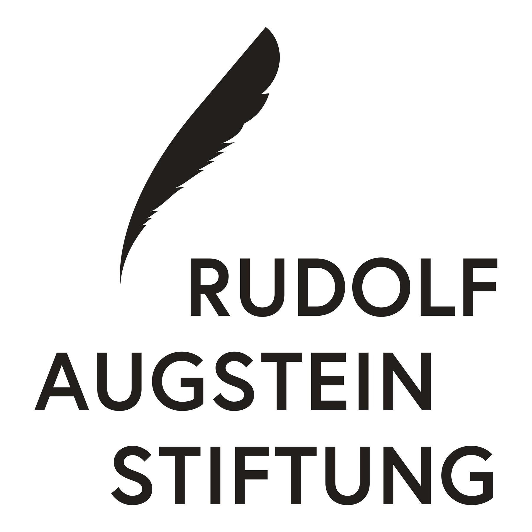 Rudolf Augstein Stiftung Druck Logo Schwarz