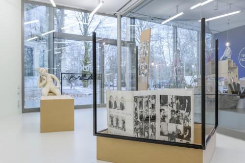 Installationsfoto: Gabriele Stötzer und Paula Gehrmann, Bewußtes Unvermögen #3, GfZK