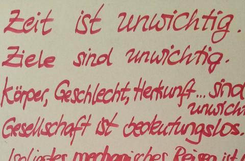 Detail Manifest einer potenziellen Jugendbewegung, Das Radikale Empathiachat, 2018, Anna Witt in Zusammenarbeit mit Leipziger Jugendlichen