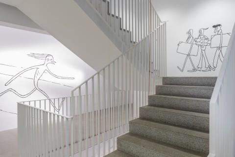 Ausstellungsansicht, Am Ende diese Arbeit, Anna Haifisch, The Artist, GfZK, Foto Alexandra Ivanciu