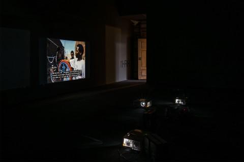 Ausstellungsansicht, Am Ende diese Arbeit, Gitte Villesen, The Building, The Bike Shop, Andys Furniture, GfZK, Foto Alexandra Ivanciu