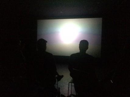 Kurzfilmpräsenation in der Blackbox.