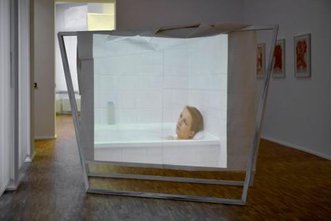 Ausstellungsansicht: Franz Jyrch ›White Cube‹, 2011; Sammlung GfZK Leipzig, Foto: Sebastian Schröder